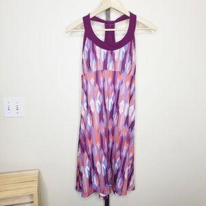 Prana Purple Patterned Cali Dress